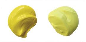 Cadmium yellow and nickel titanate yellow