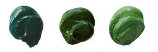 viridian green, sap green, chrome oxide green