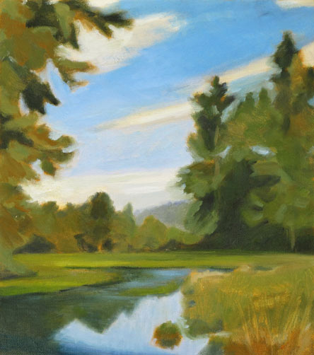 Painting Exercises Limited Focus Shape Color And Notan In Studio Landscape