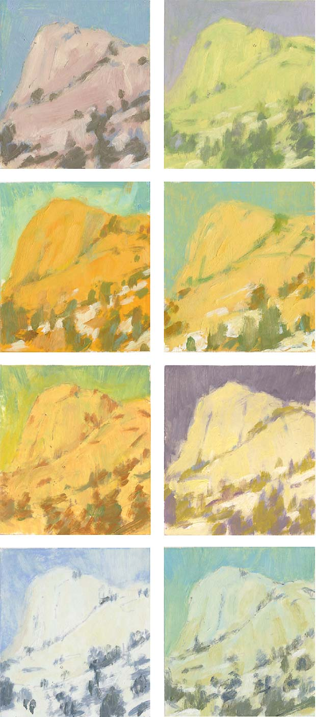 mountain color studies by Mitchell Albala