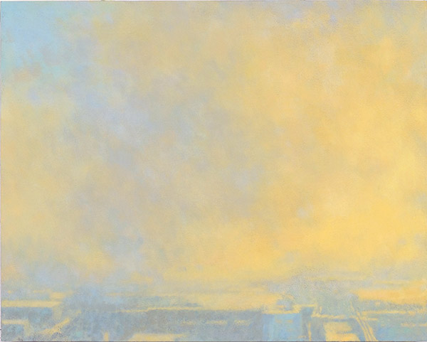 Mitchell Albala, Formation in Orange and Azure, oil on panel, 16 x 20. Available.