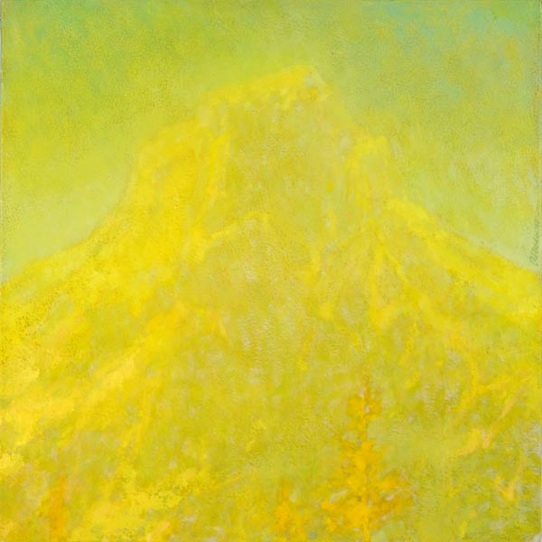 Impressionist landscape painting of American Border Peak in sunlight by Mitchell Albala
