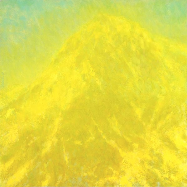 Impressionist landscape painting of Mt. Shuksan in bright sunlight by Mitchell Albala