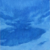 Abstract, monochromatic landscape painting of glacial pool, Yakutat Bay, Alaska by Mitchell Albala