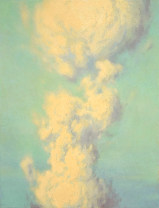 Landscape painting of Hiroshima mushroom cloud by Mitchell Albala
