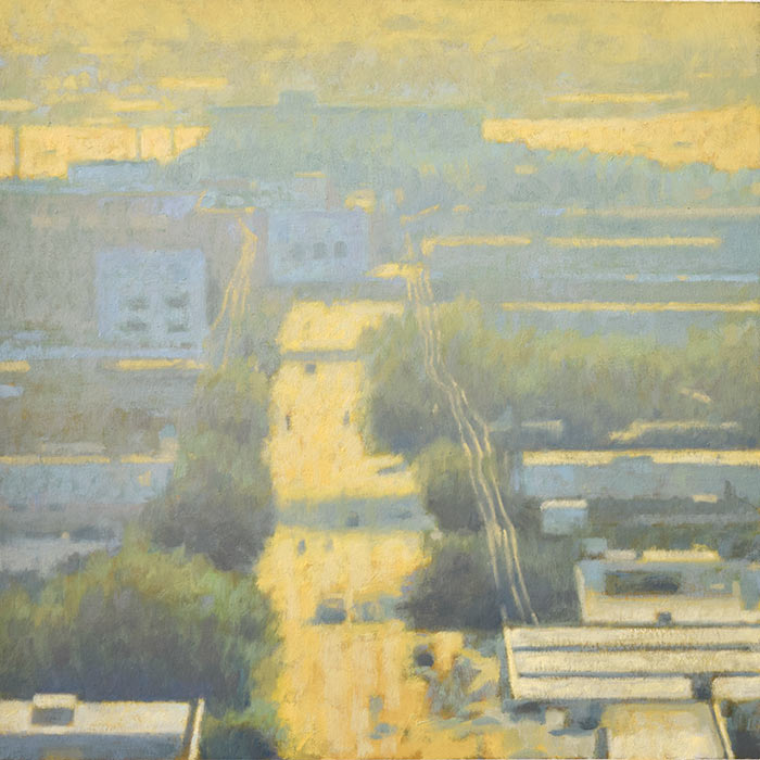 Landscape painting, Hight Road Summer, by Mitchell Albala