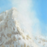 Landscape painting on snow-capped mountain by Mitchell Albala