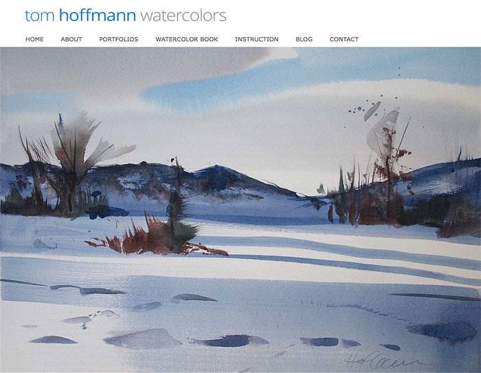 Home page design by Mitchell Albala for Tom Hoffmann's website